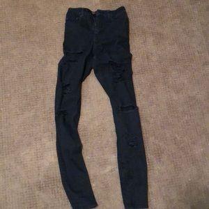 ASOS black rip jeans